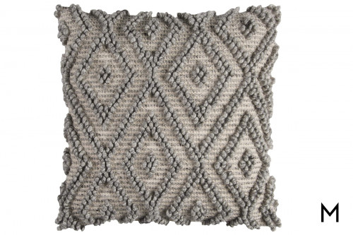 "Knotted Diamond Accent Pillow 20""x20"""