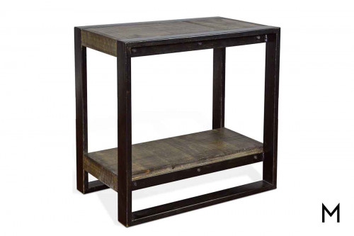 Durham Chair Side Table in Tobacco Leaf