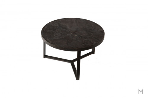 Carmen Medium Bunching Round Coffee Table featuring Mixed Metal and Stone