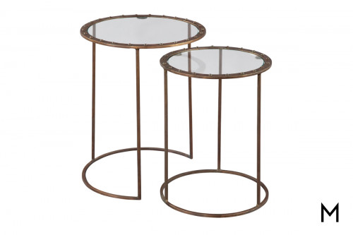 Riveted Copper Nesting Tables