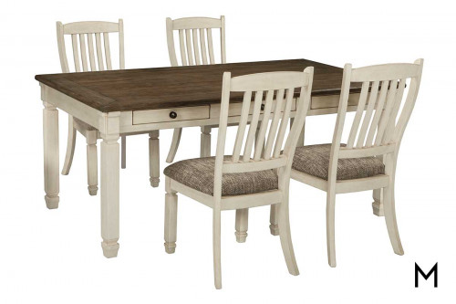 Bolanburg 5 Piece Dining Set with Table and 4 Chairs
