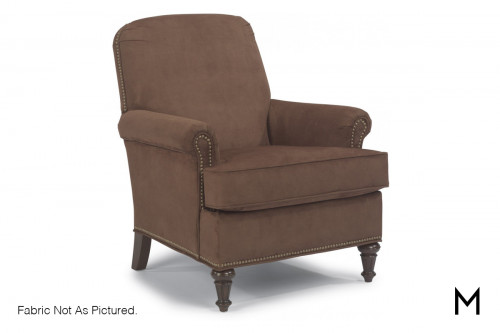 Living Room Accent Chair with Nailhead Trim