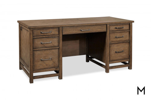 Terrace Executive Desk in Tawny