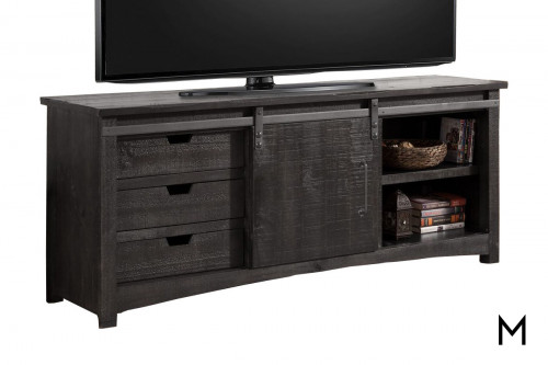 """M Collection 76"""" Entertainment Console with Sliding Door"""