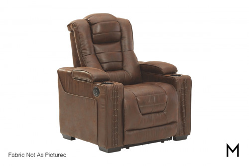 Owner's Box Power Recliner Chair with Cup Holders