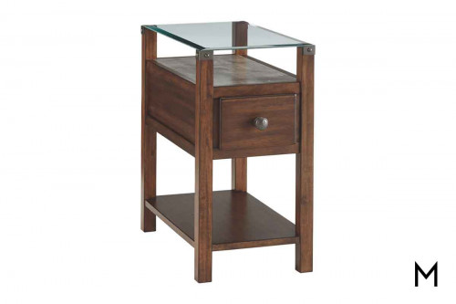 Diamenton End Table with USB Ports & Outlets