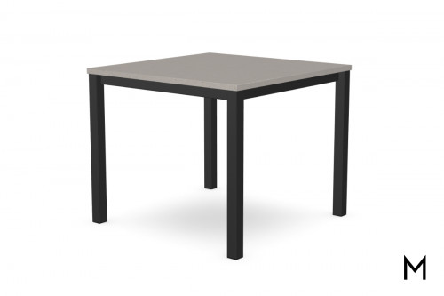 Carbon Dining Height Table with Concrete Gray Top