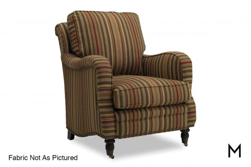 Tyler Club Chair with Nailhead Trim