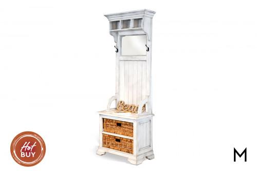 Hall Tree Bench with Storage Baskets