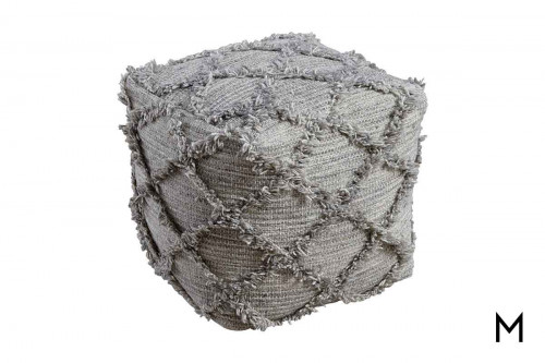 Adelphie Pouf in Gray
