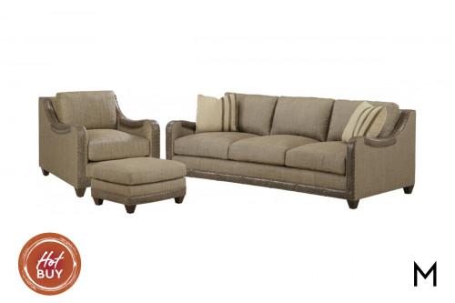 Dover 3 Piece Living Room Set