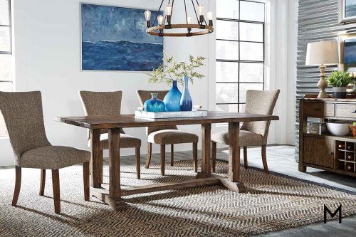 Havenbrook Live Edge Table with Trestle Base