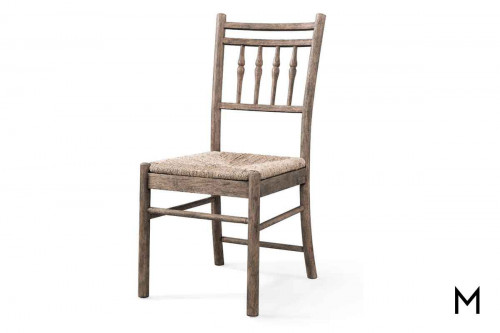 Riverbank Side Dining Chair in Weathered Gray Oak
