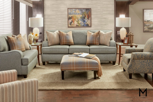 Sofa with Contrasting Pillows