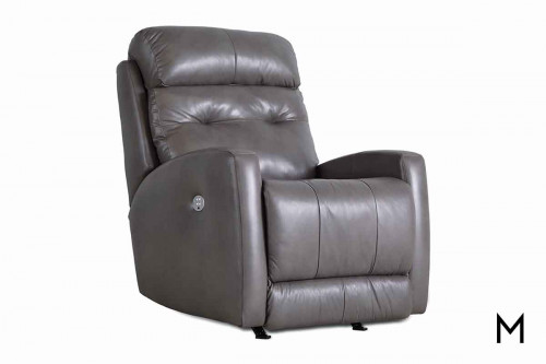 M Collection Bank Shot Rocker Recliner in Granite