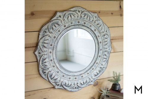 Mandala Metal Wall Mirror