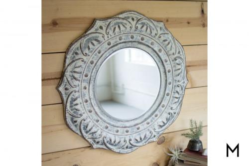 Mandala Metal Wall Mirror