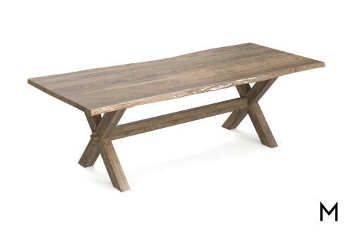 Maple Rectangular Dining Table with Crossbuck Base