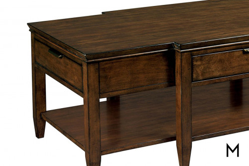 Traditional Cocktail Table with Three Drawers