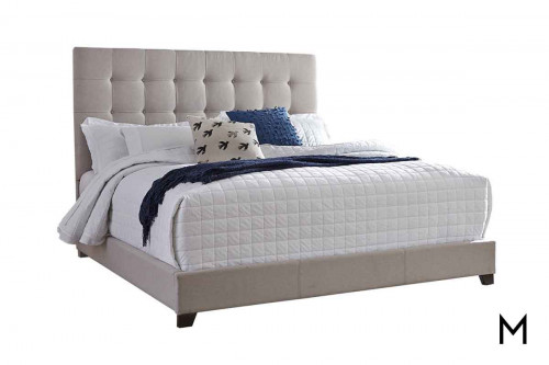 Signature Queen Upholstered Bed in Beige
