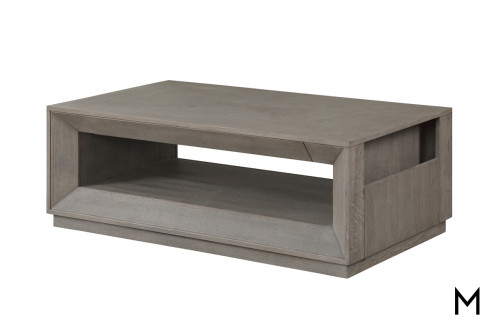 M Collection Modern Gray Cocktail Table