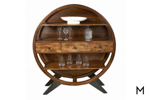Sansa 3 Drawer Etagere with Closed Back