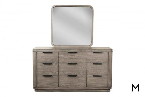 Precision 9 Drawer Dresser in Gray Wash