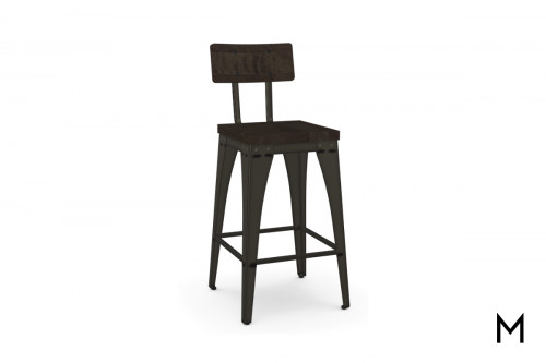 Upright Counter Stool with Back