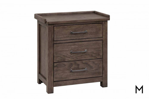 Sonoma Road 3 Drawer Nightstand with Charging Stand
