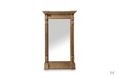 Washington Salon Floor Mirror finished in Rustic Palomino