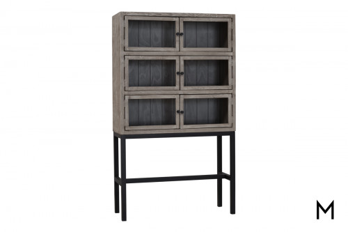 M Collection Weathered Gray Barrister Bookcase