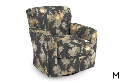 Kaleigh Swivel Glider in Floral Printed Fabric
