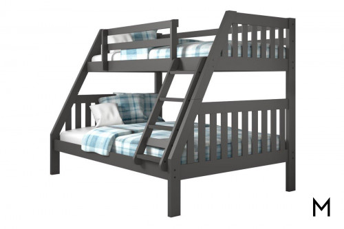 Twin-Over-Full Bunk Bed with Ladder