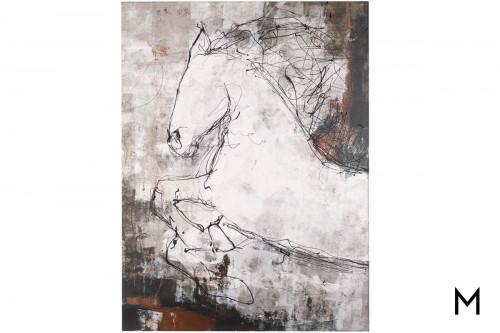 Contour Horse Canvas