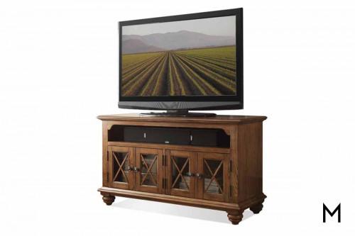 """Riverside 50"""" TV Console in Oak"""