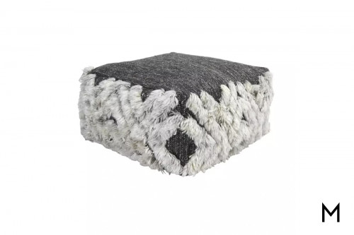Bolton Floor Pouf in Charcoal