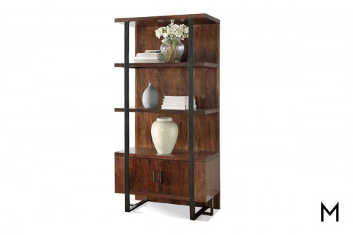 Terra Vista Pier Bookcase with Metal Accents