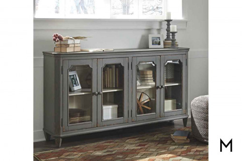 Mirimyn Accent Cabinet in Distressed Gray