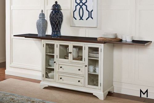 Sideboard Server with Flip-Top