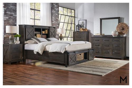 Sun Valley King Storage Bed with Rotating Storage