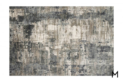 Abstract Charcoal Area Rug 8'x10'
