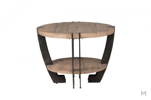 Marcelo Round End Table featuring Hand Distressing