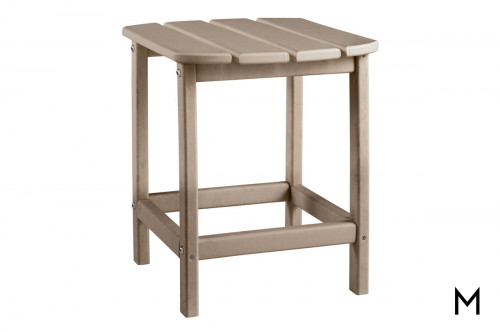 Sundown Outdoor End Table in Brown