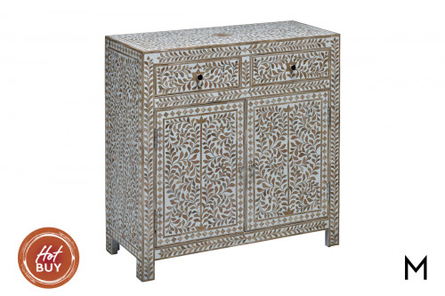M Collection Vine Inlay Storage Cabinet