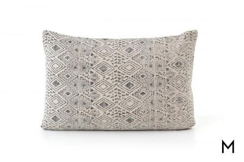 Distressed Diamond Lumbar Accent Pillow