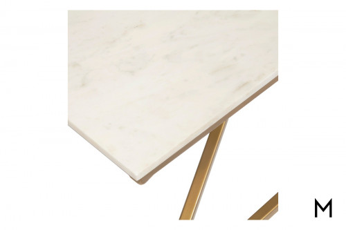 Pyramid Cocktail Table with Marble Top