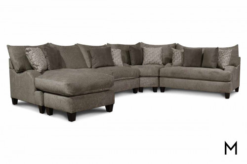 Catalina 3 Piece Sectional in Werbear Wheat