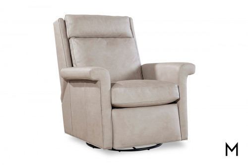 Swivel Power Recliner with Flared Arms