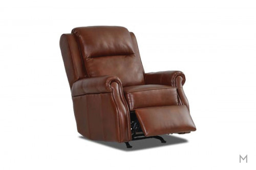 Jamestown Leather Rocking Recliner in Brown Leather