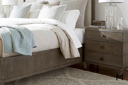Contemporary 3 Drawer Nightstand with Power Outlets